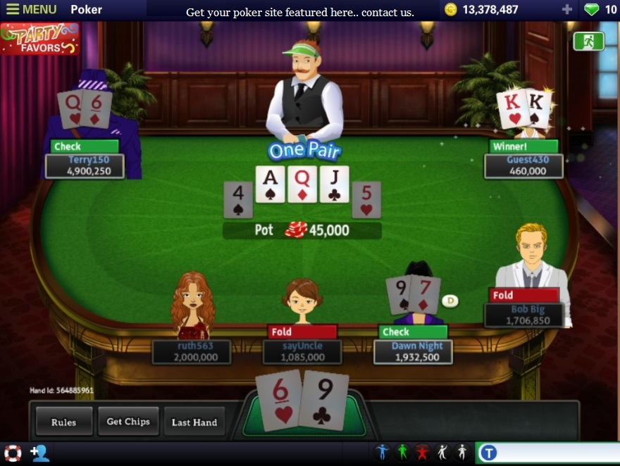 play texas hold'em poker online