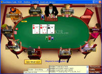 PartyPoker texas Hold'em table