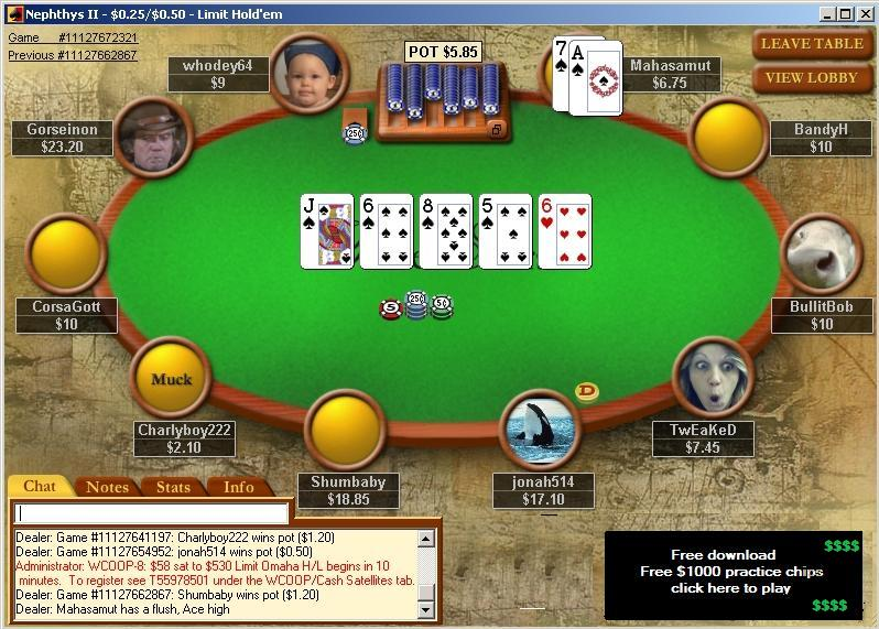 free poker games texas holdem